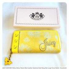 💛🌻🐝JUICY COUTURE Yellow Daisy Bee Large Purse Wallet FAST📮🌻🐝💛
