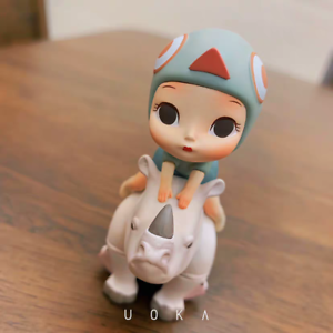 Dream Of Fairy Tale Rhinoceros Friend Cute Art Designer Toy Figurine Pop Display