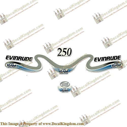 Evinrude 250hp 250hp 250hp Ficht Ram Decals 1999 - 2000 b4b705