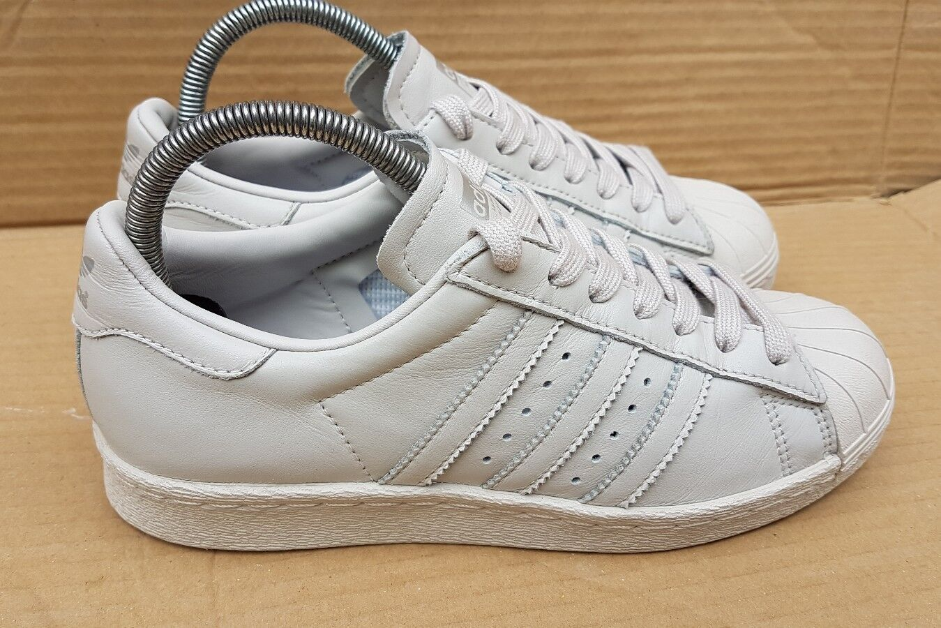 RARE MI ADIDAS SUPERSTAR Gris 80's TRAINERS Taille 4TRIPLE Gris SUPERSTAR CUSTOM DESIGNED 7bf364