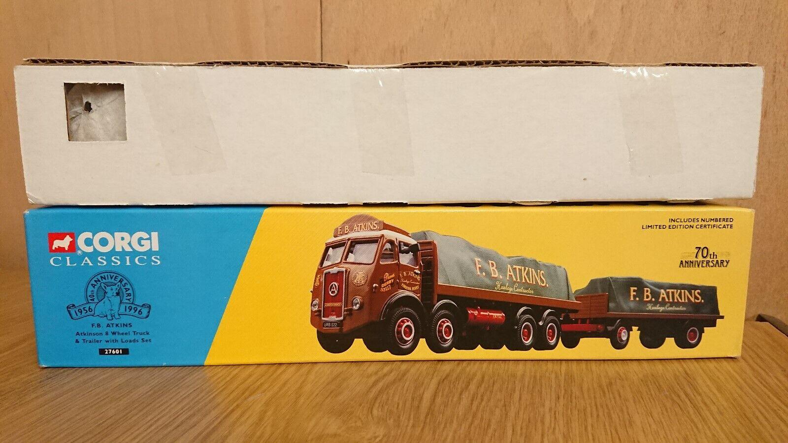 El nuevo outlet de marcas online. Corgi 27601 Camión de 8 ruedas Atkinson & Remolque Remolque Remolque  Atkins Ltd Edition  mejor calidad