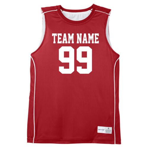 Tank Top Team Uniform Red Sleeveless Jerseys Custom Basketball Jersey