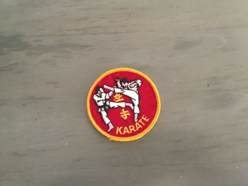 karate vintage patch new old stock 1970/'s