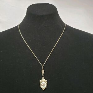 1928-Brand-Necklace-24-034-chain-barrel-clasp-2-034-Rose-Pendant-vintage-inspired-15