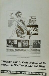 Vintage-Warren-Beatty-034-Mickey-One-034-1965-Columbia-Pictures-Press-book-Uncut