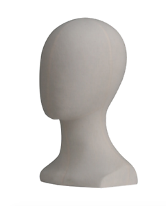 Female-Mannequin-Display-Head-Fabric-Covered-FREE-SHIPPING