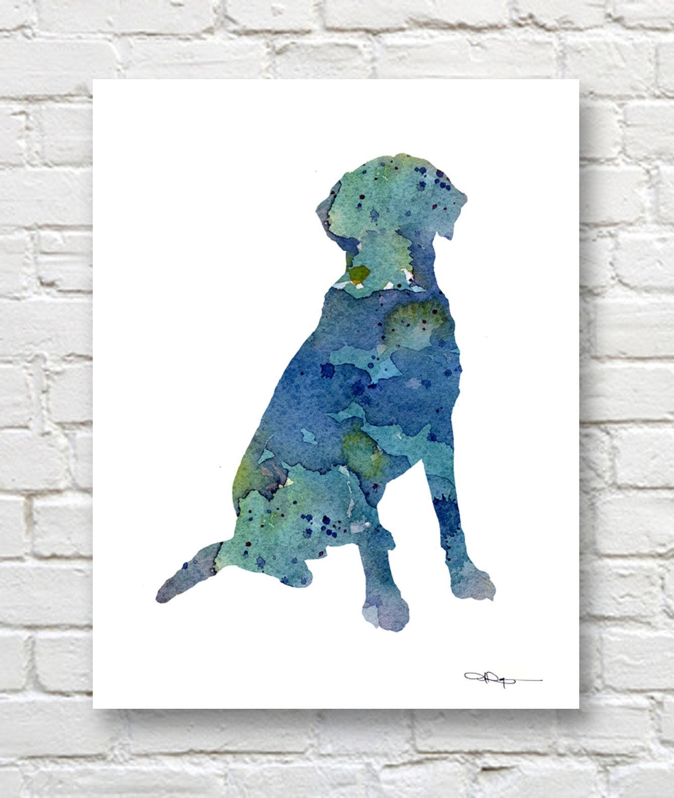 Chesapeake Bay Retriever Art Print Sepia Watercolor Painting by Artist DJR