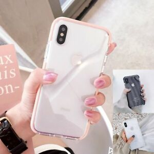 Clear-Shockproof-Soft-Bumper-Silicone-Case-Cover-For-iPhone-XS-max-X-6-7-8-plus