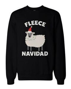 Fleece-Navidad-Funny-Christmas-Graphic-Sweatshirts-Unisex-Black-Sweatshirt