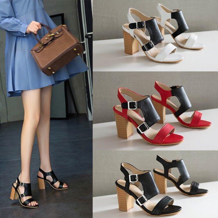 Women's Slingbacks High Heels Open Toe colorblock Fashion Sandals Casual shoes