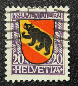 Timbre-SUISSE-Stamp-SWITZERLAND-Yvert-et-Tellier-n-186-i-obl-Cyn15