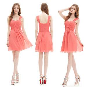 550d87c048c4 Ever-Pretty Short Coral Long Formal Bridesmaid Dress Evening Party ...