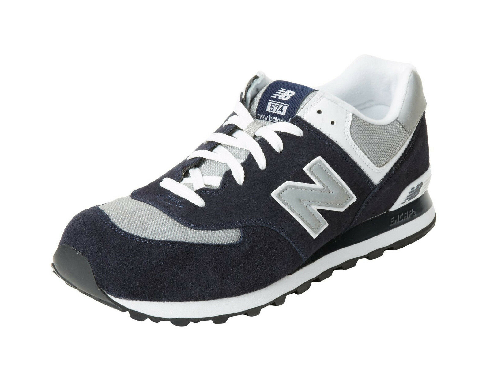 New Balance Shoes 574 Men Running Sneakers M574BGS Navy Blue Gray