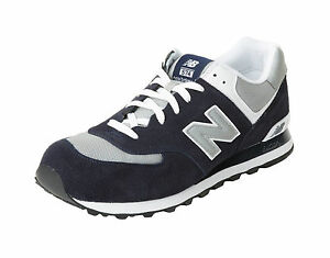 New Balance Shoes 574 Men's Running Sneakers M574BGS - Navy Blue/Gray