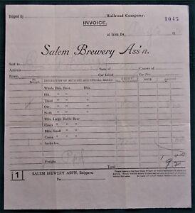 Salem-Oregon-Brewery-Association-orig-1912-Beer-Invoice-to-Hubbard-Man
