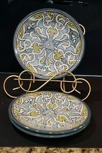 Set Of 3 Pottery Barn Sevilla 9 5 8 Salad Plates Made In Tunisia Ebay