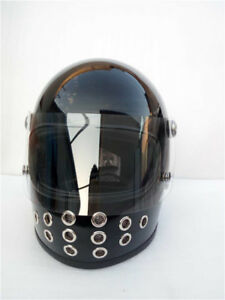 TT-amp-CO-Helmet-Full-Face-Japan-Ghost-Rider-Motorcycle-Motorbike-Retro-With-Shield
