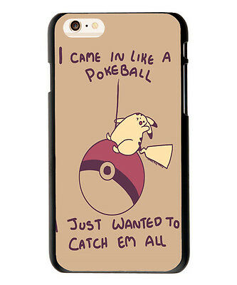Pokemon Quote Design Soft TPU Case Cover For iphone 7 6 6S 8 Plus S9 S8