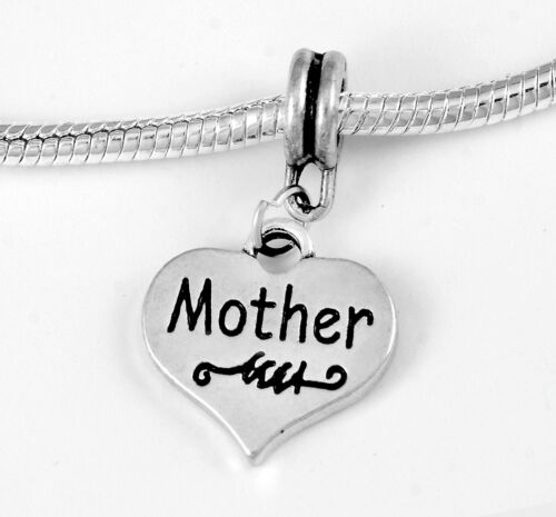 Mother charm Mother jewelry Mothers day gift  Fits European bracelet /& Necklace