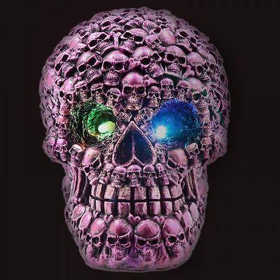 Dekofigur Skull Led Totenschädel Deko