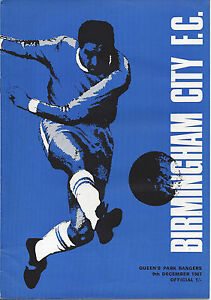 Birmingham City v QPR Lge Div 2 91267 football programme - <span itemprop='availableAtOrFrom'>Norwich, United Kingdom</span> - Birmingham City v QPR Lge Div 2 91267 football programme - Norwich, United Kingdom