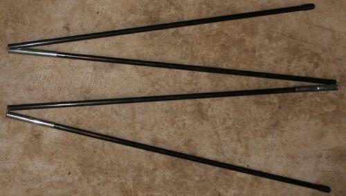 Caps Black 4 Sect 77.5 inch 9.5 mm Fiberglass Tent Pole 3//8 in Diam