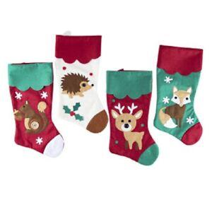 a09ff7b88 Image is loading Cute-Animal-Felt-Christmas-Stockings-Squirrel-Fox-Hedgehog-