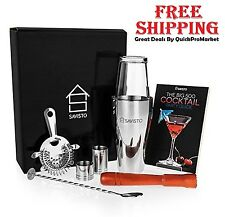 Tail Shaker Set Stainless Steel Drink Mixer Bartender Tools 8 Piece Bar Kit