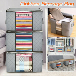 Foldable-Large-Non-woven-Clothes-Quilt-Blanket-Zip-Storage-Bag-Organizer-Box