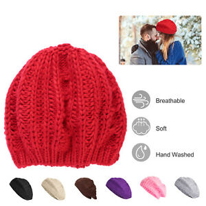 c08cec284 Details about Women Summer Spring Winter Crochet Knit Slouchy Beanie Beret  Cap Slouch Ski Hat