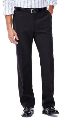 Men/'s Haggar e-Clo Smart Fiber Straight Fit Plain Front Dress Pants NWT