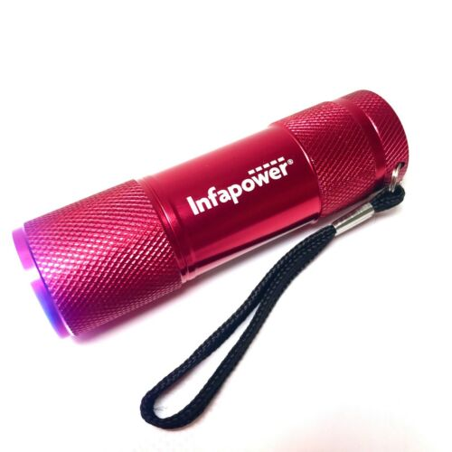 INFAPOWER Mini Pocket Torch in Red 9 LEDs inc 3 x AAA Batteries BRAND NEW