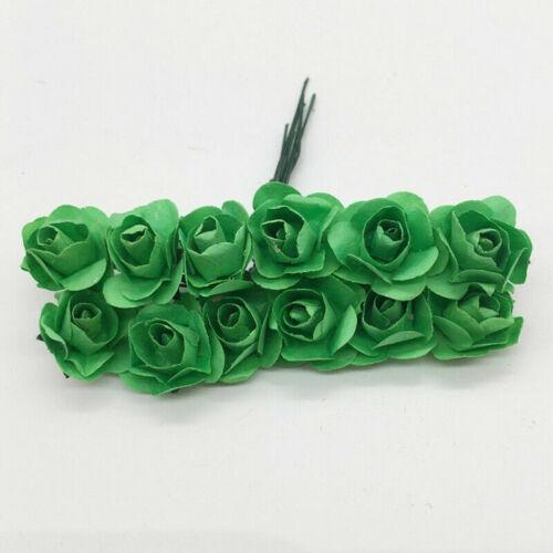 144Pcs//Bag Paper Flower Backdrop Wall Rose Flowers DIY Bride Wedding Bouquet