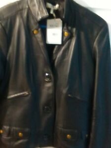 Metro Women's Med Størrelse 7 Ny 12 Jacket Læder Black100 Biker Tag R7aR5qrw