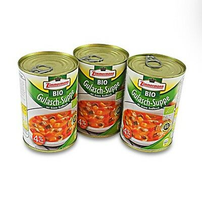 (9,16€/1l) BIO Gulasch - Suppe  3er Pack (3 Dosen à 400 ml)