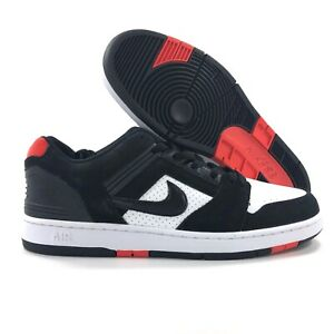 61bda6fcd6cd4 Details about Nike SB Air Force II 2 Low Bred Black White Habanero Red  AO0300-006 Men's 8-12
