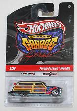 Hot Wheels LARRY'S GARAGE PURPLE PASSION WOODIE BLACK REAL RIDERS 1:64