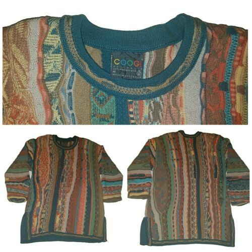 RARE Authentic DEADSTOCK COOGIE 100/%Wool Fall Fest Zipper Lined Cardigan Circa 1980