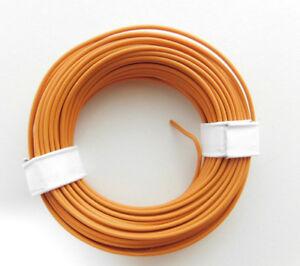 ( 0,135€/ M) 10m Toron / Câble Orange P. Ex. Pour Märklin H0 Modellbahn Ou N, Tt