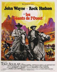 John Wayne Rock Hudson movie poster print The Undefeated 1969