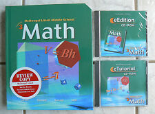 McDougal Littell Middle School MATH,Course 3 NEW TEXT &2 NEW CD-Roms gr.8/8th