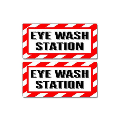 Window Business Sticker Set Eye Wash Station Sign