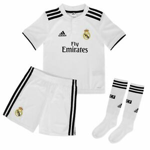 b8bca6a47 Details about ADIDAS REAL H MINI SET OFFICIAL REAL MADRID CHILD 2018 19  CG0538 HOME KIT