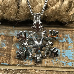 Details about Falling Snowflake Pearl Cage Pendant 925 Sterling Silver  Option Chain - USA