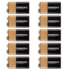 10 Pcs Duracell 9V 9 Volt MN1604, 6LR61 Alkaline Battery, BRAND NEW