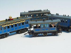Extra-detailed-8770-RAILEX-Marklin-King-Ludwig-II-5-car-brass-set-z-scale