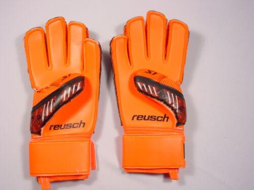 Nouveau Reusch football gardien de but Gants Re charge le premier S1 #3570263S Noir /& Orange Sz 9