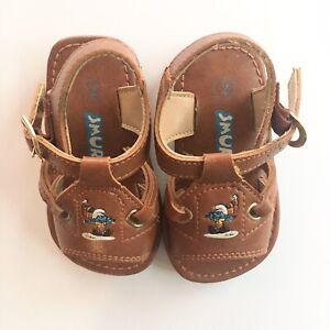 VTG Baby Smurf's Brown Infant Sandals