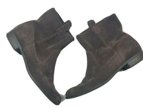 Womens Dockers Brown Leather Ankle Boots Booties 9