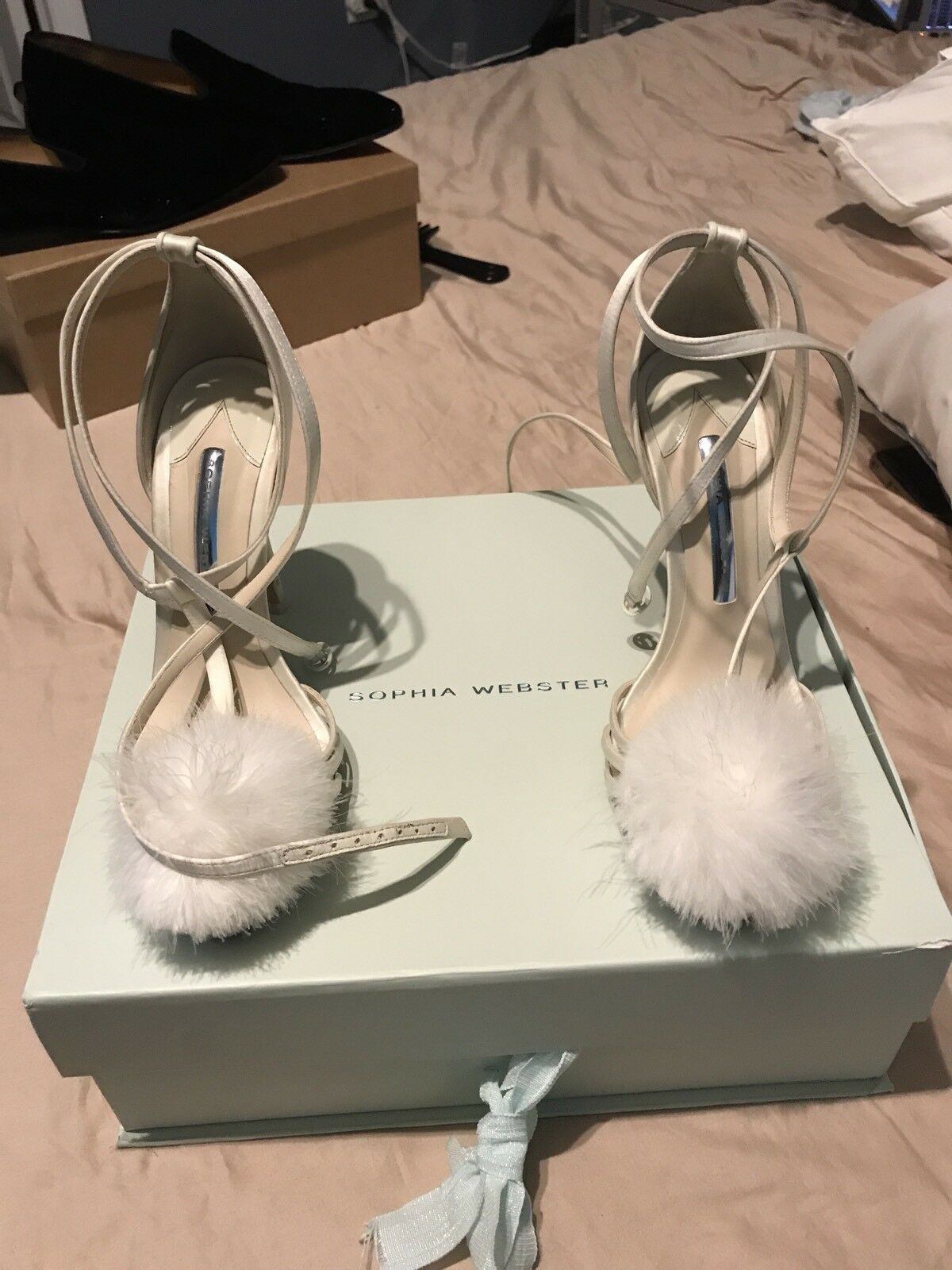 Sophia Webster Jojo white bridal shoes size 37 wifey for lifey